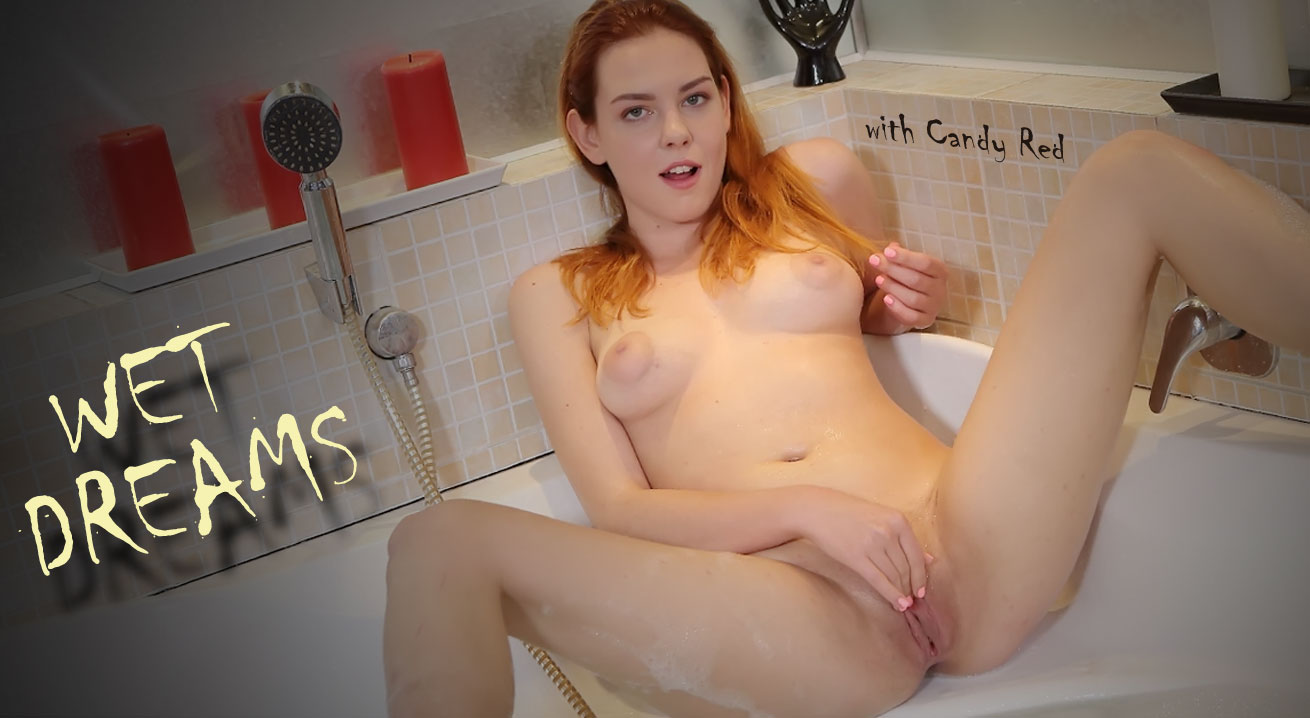 Soapy masturbation in a bath