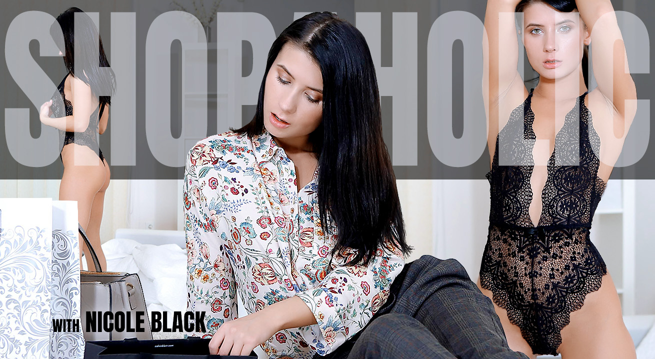 Breathtaking Brunette Tries On New Clothes
